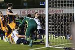 Tottenham's Christian Eriksen scoring his sides second goal during the Premier League match at White Hart Lane Stadium, London. Picture date December 14th, 2016 Pic David Klein/Sportimage