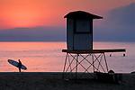 Sunrise over northern Monterey Bay from Capitola Beach, Santa Cruz County, CALIFORNIA
