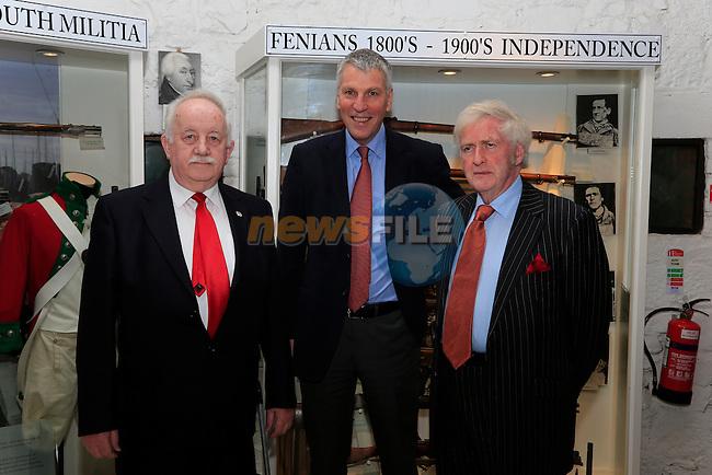 celebration of the full accreditation status of Millmount Museum were Donacha Nic Raighnaill Michael Starrett CEO Irish Heritage Council and Pat Fullam.<br /> Picture: Fran Caffrey www.newsfile.ie