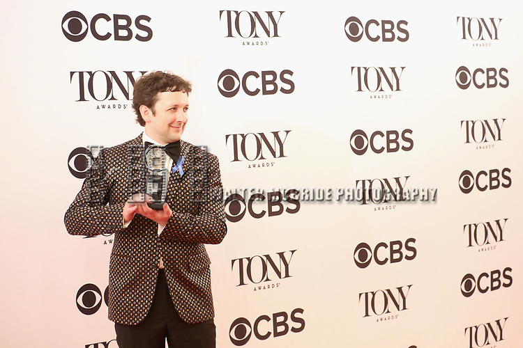 NEW YORK, NY - JUNE 11:  Bradley King poses with award at the 71st Annual Tony Awards, in the press room at Radio City Music Hall on June 11, 2017 in New York City.  (Photo by Walter McBride/WireImage)