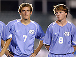 UNC's Scott Campbell (7) and Dax McCarty (8) on Wednesday, November 9th, 2005 at SAS Stadium in Cary, North Carolina. The University of North Carolina Tarheels defeated the North Carolina State University Wolfpack 1-0 during their Atlantic Coast Conference Tournament Quarterfinal game.
