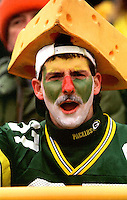 A Green Bay Packers fan at Lambeau Field during the December 22, 1996 game against the Minnesota Vikings. The Pack won the game 38-10.