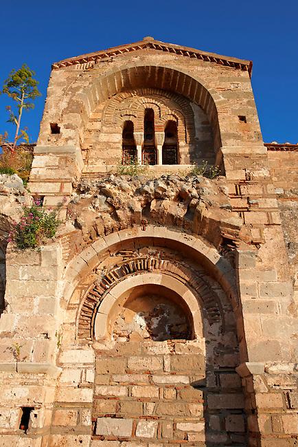 12th century Byzantine Orthodox Church of Hagia Sophia in the upper town ruins of Monemvasia (  ), Peloponnese, Greece