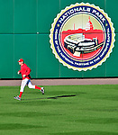 8 June 2010: Washington Nationals' rookie pitcher Stephen Strasburg warms up in the outfield prior to his Major League debut starting against the Pittsburgh Pirates at Nationals Park in Washington, DC. The Nationals defeated the Pirates 5-2 in the series opener where Strasburg pitched 7 complete innings, struck out 14 batters, notching his first win in the majors. Mandatory Credit: Ed Wolfstein Photo