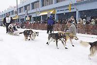 Michael Suprenant Saturday, March 3, 2012  Ceremonial Start of Iditarod 2012 in Anchorage, Alaska.