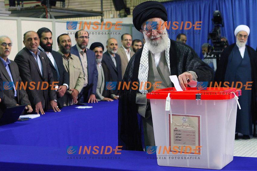Ayatollah Ali Khamenei  <br /> Teheran 15/6/2013 <br /> Elezioni Presidenziali <br /> foto Imago / Panoramic / Insidefoto