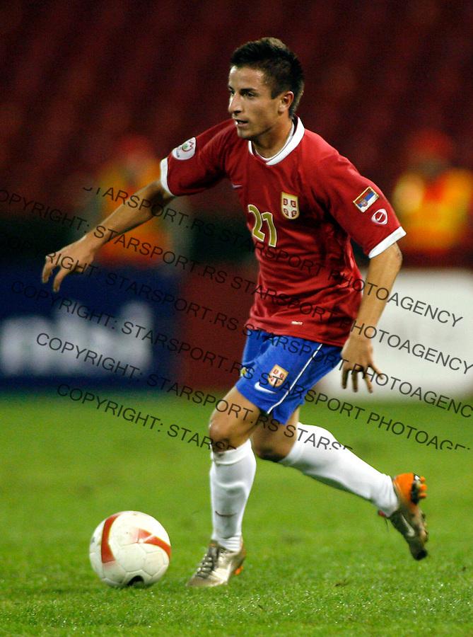 Fudbal, kvalifikacije za EURO 2008.Serbia (Srbija) Vs Finland (Finska).Zoran Tosic.Beograd, 08.09.2007..foto: Srdjan Stevanovic