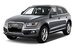 2017 Audi Q5 Premium 5 Door SUV Angular Front stock photos of front three quarter view