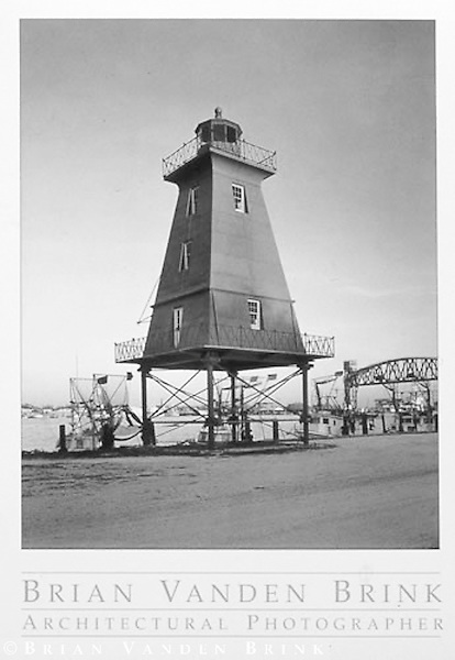 SOUTHWEST REEF LIGHTHOUSE<br /> Morgan City, Louisiana<br /> Built 1858, Relocated 1987, &copy; Brian Vanden Brink, 1997