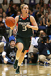 24 February 2012: Miami's Stefanie Yderstrom. The Duke University Blue Devils defeated the University of Miami Hurricanes 74-64 at Cameron Indoor Stadium in Durham, North Carolina in an NCAA Division I Women's basketball game.