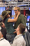 Jennifer Tilly consoles Phil Laak, who had busted out.