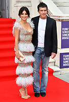 """LONDON, UK, AUGUST 08: Penelope Cruz and Antonio Banderas attend the opening night of Film4 Summer Screen at Somerset House featuring the UK Premiere of """"Pain And Glory"""" on August 8, 2019 in London, England. <br /> CAP/JOR<br /> ©JOR/Capital Pictures"""