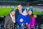 Marion Costello Aaron Gamble Cillian Kelly Larissa Gamble, St Mary's fans, pictured at the All Ireland Intermediate football final held in Croke Park on Sunday