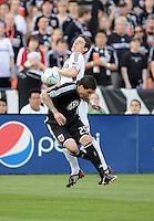 DC United forward Santino Quaranta fights hard to maintain control of the ball.   DC United tied Real Salt Lake 0-0 at  RFK Stadium, Saturday May 23, 2009.