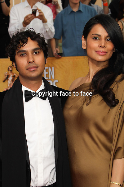 LOS ANGELES, CA - JANUARY 18: Kunal Nayyar, Neha Kapur attending the 2014 SAG Awards in Los Angeles, California on January 18, 2014.<br /> Credit: RTNUPA/MediaPunch<br />