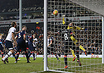 Newcastle's Rob Elliot can only watch as Tottenham's Eric Dier's header goes in<br /> <br /> Barclays Premier League- Tottenham Hotspur vs Newcastle United - White Hart Lane - England - 13th December 2015 - Picture David Klein/Sportimage