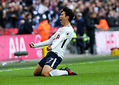 5th November 2017, Wembley Stadium, London England; EPL Premier League football, Tottenham Hotspur versus Crystal Palace; Son Heung-Min of Tottenham Hotspur celebrates scoring his sides 1st goal in the 64th minute to make it 1-0