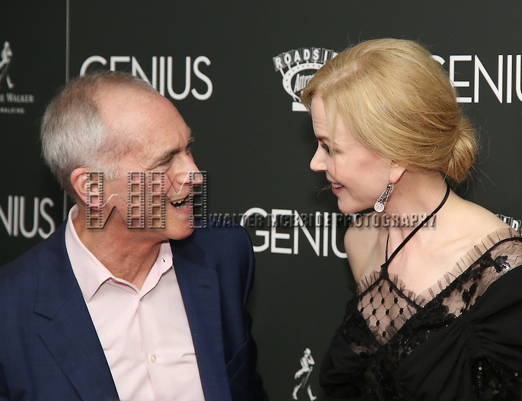 A. Scott Berg and Nicole Kidman attends 'Genius' New York premiere at Museum of Modern Art on June 5, 2016 in New York City.