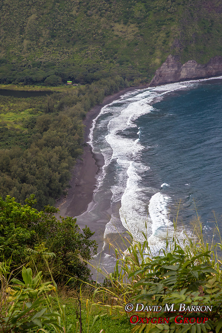 Waipi'o Valley Black Sand Beach
