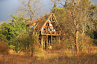 A boutique style guesthouse with luxurious wooden 'treehouses'. Made entirely of wood and grass, the tree-houses, built 15ft above the ground, are on two levels, with a separate bedroom and living area, and large terraces offering uninterrupted views of the Ngong Hills.