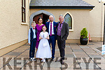 Shauna Somers who received her first Holy Communion last Saturday in Athea pictured her parents Lily & Tim, brother Adam & godfather Gerard Byrne.