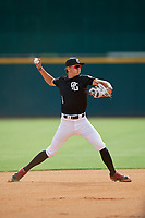 Deric Fabian (1) of North Marion High School in Ocala, FL during the Perfect Game National Showcase at Hoover Metropolitan Stadium on June 17, 2020 in Hoover, Alabama. (Mike Janes/Four Seam Images)