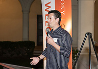 David Newhall '99, nephew<br /> Now in his 30th year as Oxy's head men's basketball coach, Brian Newhall received a much deserved celebration with a surprise halftime ceremony and post game reception in the Booth Hall courtyard with more than 70 former and current players from all different generations and decades in attendance, on Saturday, Jan. 26, 2019.<br /> Newhall is the winningest coach in Oxy history and has a 100 percent graduation rate in his 30 years at the helm of the program. His resume boasts multiple SCIAC Championships and NCAA Playoff appearances, along with a run to the NCAA Division III Elite Eight in 2003 and the only perfect 14-0 season in SCIAC history. Newhall has not only coached at Oxy, but was a SCIAC Champion and SCIAC Player of the Year during his playing career at Oxy in the early 80s.<br /> (Photo by Marc Campos, Occidental College Photographer)