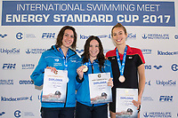 Youth Girls' 200m Butterfly <br /> D'INNOCENZO Giulia ITALY Gold Medal <br /> CRISPINO Antonella ITALY Silver Medal <br /> KLEYBOLDT Rosalie GERMANY Bronze Medal <br /> Lignano Sabbiadoro 07-05-2017 Ge.Tur Complex <br /> Energy Standard Cup 2017 Nuoto<br /> Photo Andrea Staccioli/Deepbluemedia/Insidefoto