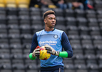 Goalkeeper Jamal Blackman of Wycombe Wanderers before the Sky Bet League 2 match between Notts County and Wycombe Wanderers at Meadow Lane, Nottingham, England on 10 December 2016. Photo by Andy Rowland.