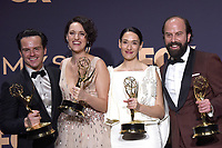 LOS ANGELES - SEP 22:  Andrew Scott, Phoebe Waller-Bridge, Sian Clifford, Brett Gelman at the Emmy Awards 2019: PRESS ROOM at the Microsoft Theater on September 22, 2019 in Los Angeles, CA