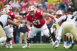 Wisconsin Badgers offensive lineman Jon Dietzen (67) during an NCAA College Football Big Ten Conference game against the Purdue Boilermakers Saturday, October 14, 2017, in Madison, Wis. The Badgers won 17-9. (Photo by David Stluka)