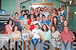 HAPPY 18TH: Dylan Carey, Lios Rua,Tralee (seated centre) who celebrated his 18th birthday last Saturday night in Dowdies bar, Boherbue,Tralee, with friends and family