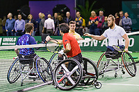 Rotterdam, The Netherlands, 14 Februari 2019, ABNAMRO World Tennis Tournament, Ahoy, Wheelchair final doubles, Stephane Houdet (FRA) / Nicolas Peifer(FRA) winners vs Alfie Hewett (GBR) / Gorden Reid (GBR), <br /> Photo: www.tennisimages.com/Henk Koster