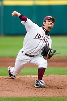 Clay Murphy (8) of the Missouri State Bears pitches during a game against the Oral Roberts Golden Eagles on March 27, 2011 at Hammons Field in Springfield, Missouri.  Photo By David Welker/Four Seam Images