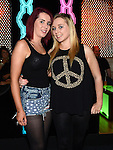 Marcella Wright and Amanda Sheerin pictured at the opening night of Galaxy nightclub. Photo:Colin Bell/pressphotos.ie