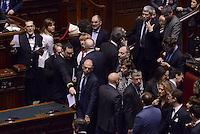 Roma, 31 Gennaio 2015<br /> Angelino Alfano<br /> Camera dei Deputati.<br /> Alla quarta votazione viene eletto Sergio Mattarella a Presidente della Repubblica.