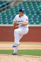 Chattanooga Lookouts relief pitcher Blake Smith (28) in action against the Montgomery Biscuits at AT&T Field on July 23, 2014 in Chattanooga, Tennessee.  The Lookouts defeated the Biscuits 6-5. (Brian Westerholt/Four Seam Images)