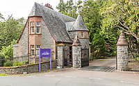 BNPS.co.uk (01202 558833)<br /> Pic: BellIngram/BNPS<br /> <br /> Gatehouse to the 133 acres estate.<br /> <br /> A magnificient Scottish castle which comes with its own two islands is on the market for £3.75million.<br /> <br /> Glenborrodale Castle is situated on the southern shore of the picturesque Ardnamurchan Peninsula in the remote Highlands. <br /> <br /> The baronial mansion dates from 1902 and is built from distinctive red Dumfriesshire sandstone.<br /> <br /> It boasts 133 acres of land taking in the idyllic uninhabited isles of Risga and Eileam an Feidh.<br /> <br /> The larger of the two, Risga, spans 30 acres and is in the centre of Loch Sunart, 800 yards from the north shore