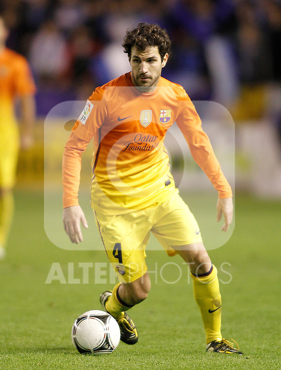 FC Barcelona's Cesc Fabregas during Spanish King's Cup match.October 30,2012. (ALTERPHOTOS/Acero)