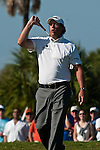 DORAL, FL. - Phil Mickelson misses his birdie attempt during final round play at the 2009 World Golf Championships CA Championship at Doral Golf Resort and Spa in Doral, FL. on March 15, 2009