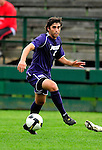 13 September 2009: University of Portland Pilots' defenseman Drew Chrostek (2), a Senior from Corvallis, OR, in action against the University of New Hampshire Wildcats during the second round of the 2009 Morgan Stanley Smith Barney Soccer Classic held at Centennial Field in Burlington, Vermont. The Pilots defeated the Wildcats 1-0 and inso doing were the Tournament Champions for 2009. Mandatory Photo Credit: Ed Wolfstein Photo