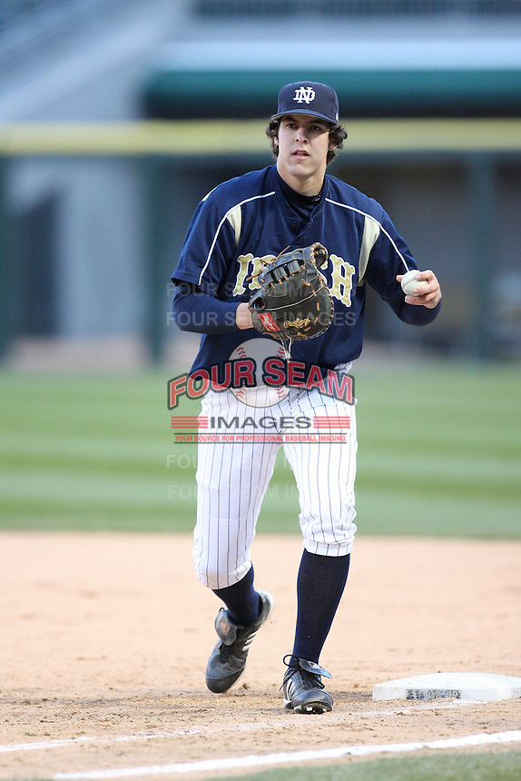 April 15, 2009: David Casey (44) of the Notre Dame Fighting Irish at US Cellular Field in Chicago, IL.  Photo by: Chris Proctor/Four Seam Images