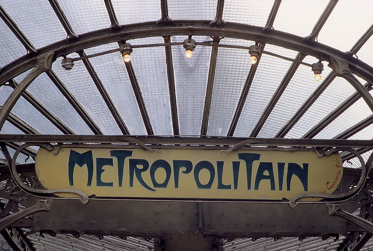 Europe, FRA, France, Paris, Metro, Subway Station Porte Dauphine, Entrance, Detail....[ For each utilisation of my images my General Terms and Conditions are mandatory. Usage only against use message and proof. Download of my General Terms and Conditions under http://www.image-box.com or ask for sending. A clearance before usage is necessary...Material is subject to royalties. Each utilisation of my images is subject to a fee in accordance to the present valid MFM-List...Contact | archive@image-box.com | www.image-box.com ]