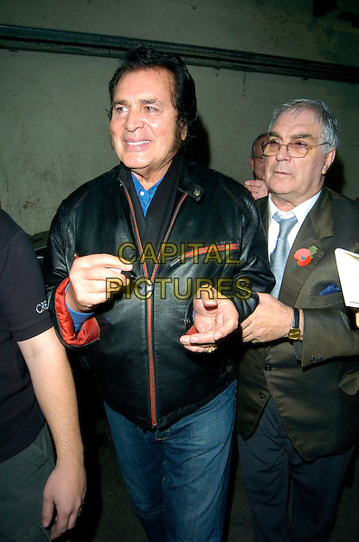 ENGELBERT HUMPERDINK.Leaving the London Palladium after his one and only London concert, London, England, November 4th 2007..half length black leather jacket.CAP/CAN.©Can Nguyen/Capital Pictures