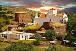 Ruins of the Monastery of Espiskopi with its Byzantine Greek Orthodox Church.. Kea, Greek Cyclades Islands.