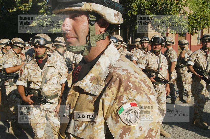 """- ceremony of departure of """"Friuli"""" air mobile brigade for Iraq....- cerimonia di partenza della brigata aeromobile """"Friuli per l'Iraq.."""