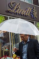 Swiss chocolatier and confectionery company shop in Yurakucho, Tokyo, Japan