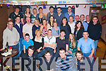 John Murphy from Ballyseedy, Tralee  (seated fourth from left) celebrated his 21st birthday with friends and family in the Abbey inn on Saturday night.