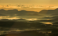 France. Var, Provence.  Winter view towards the Esterel, Frejus and the Mediterranean.