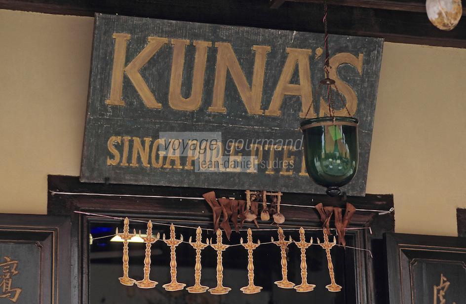 Asie/Singapour/Singapour: Little India - Détail d'une maison chinoise